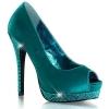 BELLA-12R Turquoise Satin/Rhinestone